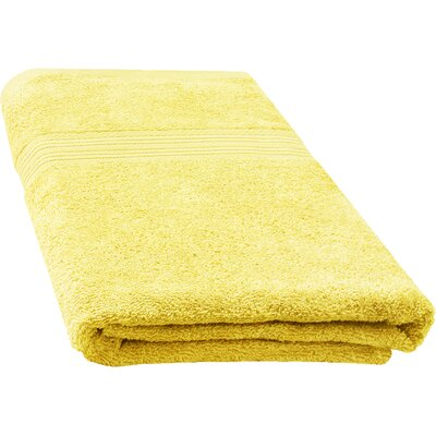 Ringspun Bath Towel Color: Banana