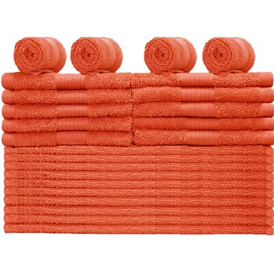 24 Piece Towel Set Color: Fiesta