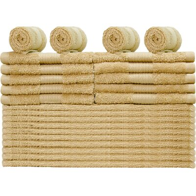 Damiani 24 Piece Washcloth Color: Beige
