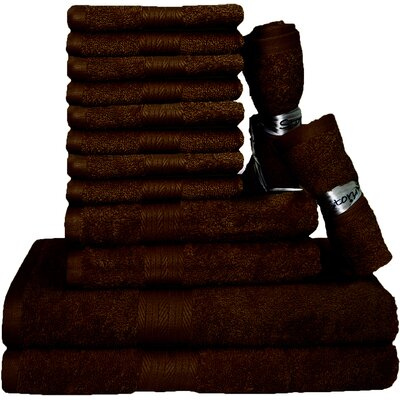 Blended 14 Piece Towel Set Color: Rum Raisins