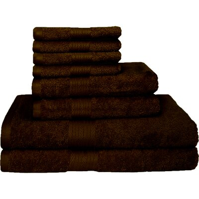 Blended 8 Piece Towel Set Color: Rum Raisins