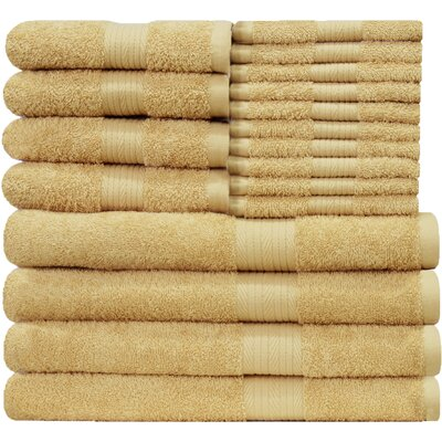 Blended 18 Piece Towel Set Color: Beige