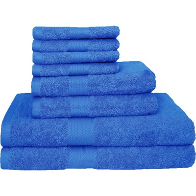 Blended 8 Piece Towel Set Color: French Blue