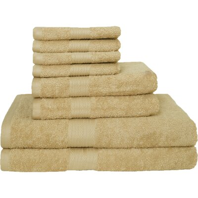 Blended 8 Piece Towel Set Color: Beige