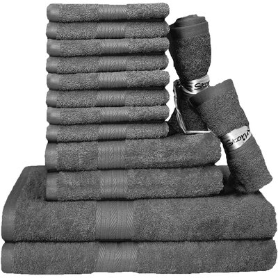 Blended 14 Piece Towel Set Color: Gray