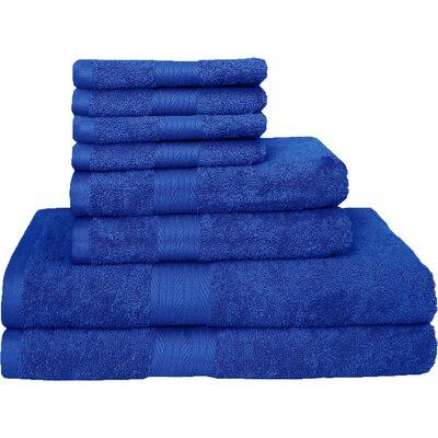 Blended 8 Piece Towel Set Color: Navy
