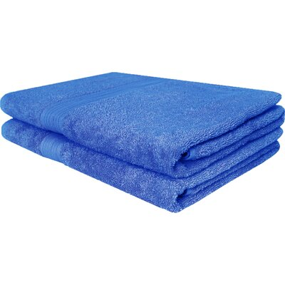 Solid Ringspun Bath Towel Color: French Blue