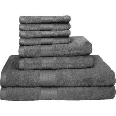 Blended 8 Piece Towel Set Color: Gray