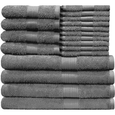 Blended 18 Piece Towel Set Color: Gray