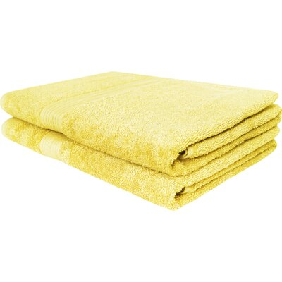 Solid Ringspun Bath Towel Color: Banana