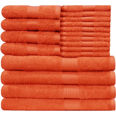 Blended 18 Piece Towel Set Color: Fiesta