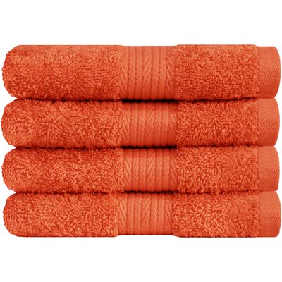 Solid Hand Towel Color: Fiesta
