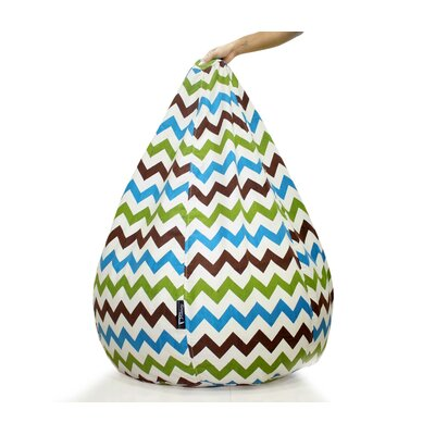 Canvas Recliner Zig Zag Pattern Bean Bag Cover