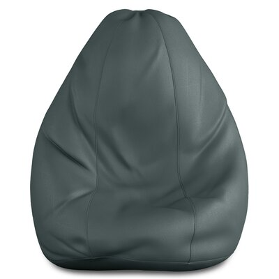 Full Comfort Bean Bag Cover Upholstery: Gray, Size: 46 H x 28 W x 28 D