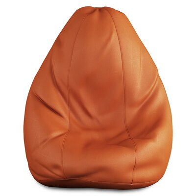 Full Comfort Bean Bag Cover Upholstery: Tan Brown, Size: 42 H x 24 W x 24 D