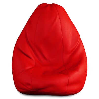 Full Comfort Bean Bag Cover Upholstery: Cherry Red, Size: 42 H x 24 W x 24 D