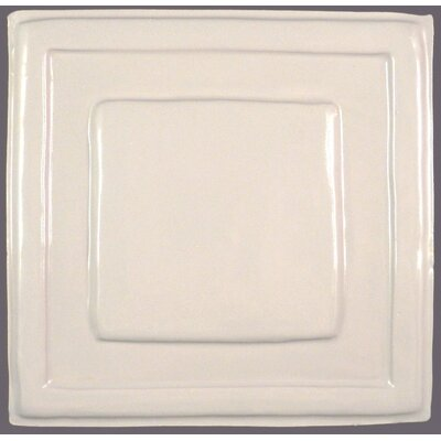 Quadrus 8.5 x 8.5 Ceramic Decorative Accent Tile in White
