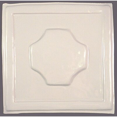 Convexus 8.5 x 8.5 Ceramic Decorative Accent Tile in White