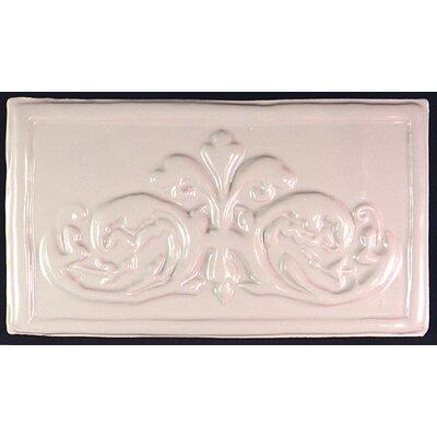 Folium 5.25 x 9.5 Ceramic Decorative Accent Tile in White
