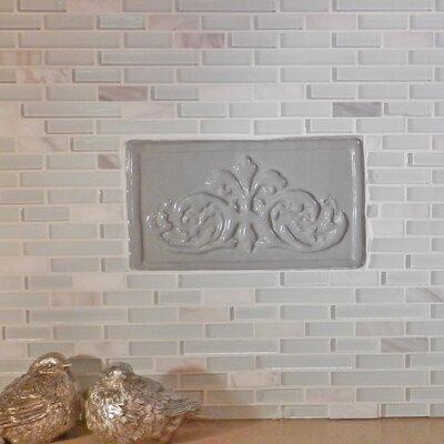 Folium 5.25 x 9.5 Ceramic Decorative Accent Tile in Gray