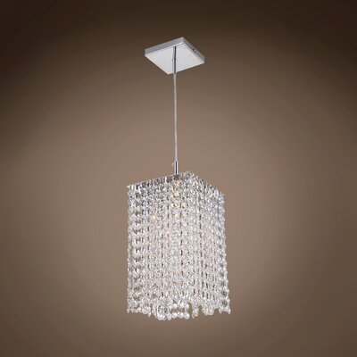 Alexa 1-Light Crystal Pendant Crystal Color: Clear, Crystal Grade: Asfour