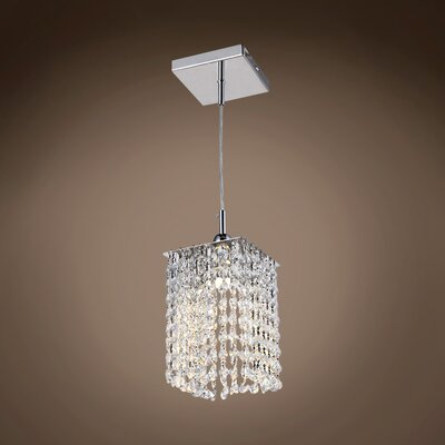 Alexa 1-Light LED Crystal Pendant Crystal Color: Clear, Crystal Grade: Swarovski