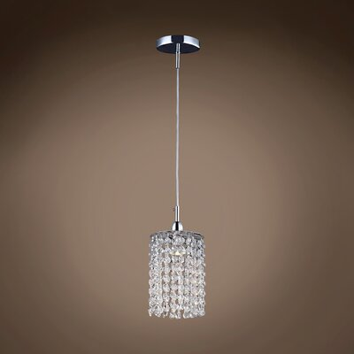 Alexa 1-Light Crystal Pendant Crystal Color: Clear, Crystal Grade: Swarovski