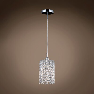 Alexa 1-Light Crystal Pendant Crystal Color: Clear, Crystal Grade: European