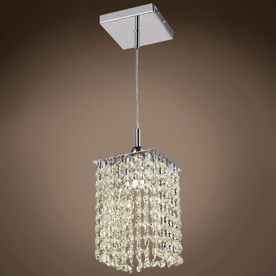 Alexa 1-Light LED Crystal Pendant Crystal Grade: European, Crystal Color: Cognac