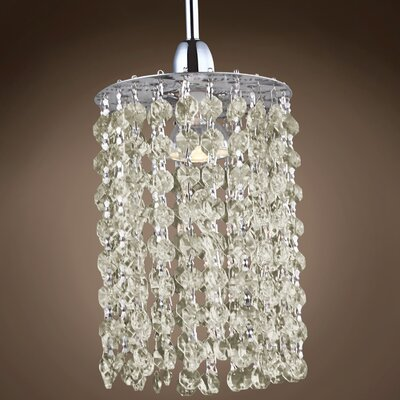 Alexa 1-Light Crystal Pendant Crystal Grade: European, Crystal Color: Cognac
