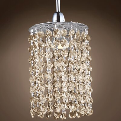 Alexa 1-Light Crystal Pendant Crystal Grade: European, Crystal Color: Golden Teak