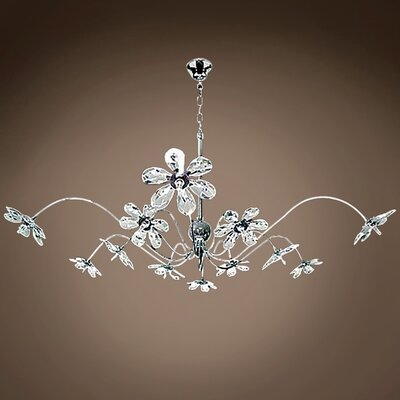 Alexa 12-Light Crystal Chandelier Crystal Grade: Asfour, Crystal Color: Clear