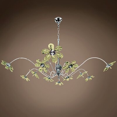 Alexa 12-Light Crystal Chandelier Crystal Grade: European, Crystal Color: Cognac