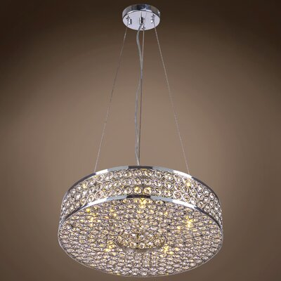 Alexa 5-Light Crystal Pendant