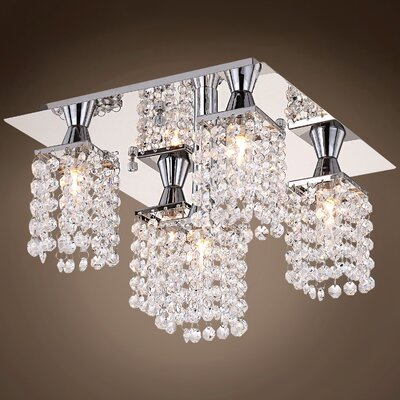 Alexa 5-Light Flush Mount Crystal Color: Clear