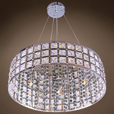 Alexa 5-Light Drum Pendant Crystal Color: Smoke, Crystal Grade: European