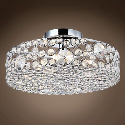 Alexa 4-Light LED Semi Flush Mount