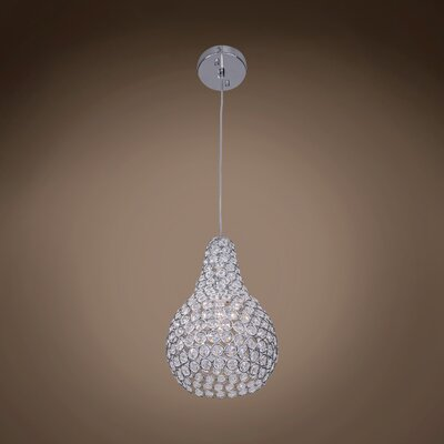 Alexa 1-Light 60W Crystal Pendant