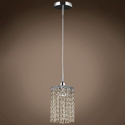 Alexa 1-Light Crystal Pendant Crystal Color: Golden Teak, Crystal Grade: European