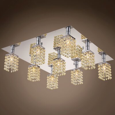 Alexa 9-Light Flush Mount Crystal Color: Cognac