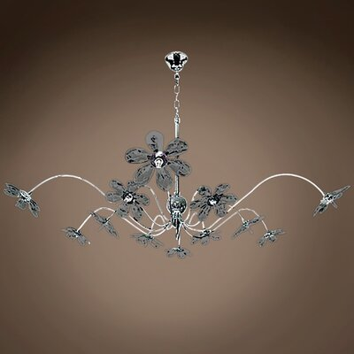 Alexa 12-Light LED Crystal Chandelier Crystal Grade: European, Crystal Color: Smoke
