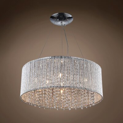 Alexa 10-Light Crystal Pendant Crystal Color: Clear, Crystal Grade: Asfour