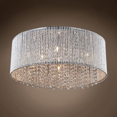 Alexa 10-Light Flush Mount Crystal Grade: Swarovski