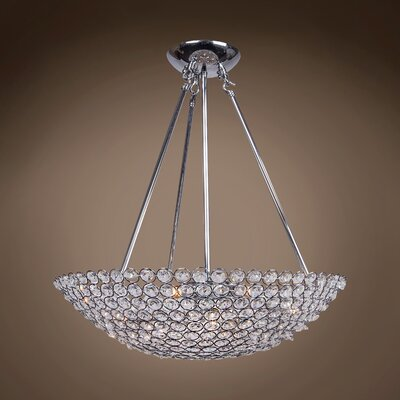 Alexa 8-Light Crystal Pendant
