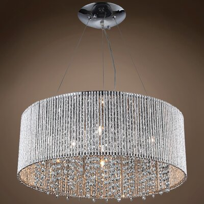 Alexa 10-Light Crystal Pendant Crystal Color: Smoke, Crystal Grade: European