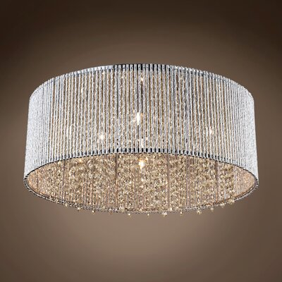Alexa 10-Light LED Flush Mount Crystal Color: Cognac