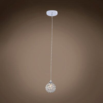 Alexa 1-Light LED Crystal Pendant