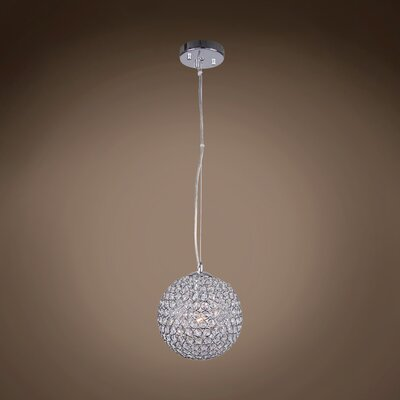 Alexa 1-Light Crystal Pendant