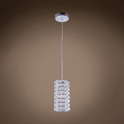 Alexa 1-Light 40W Crystal Pendant