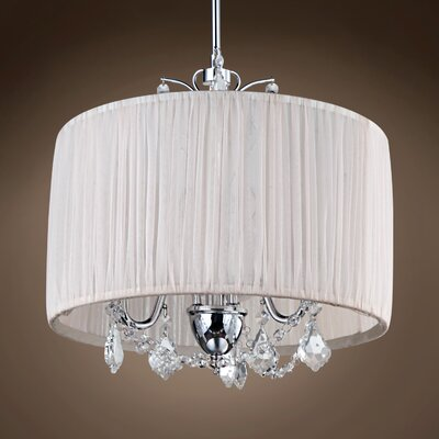 Gemma 5-Light Drum Chandelier Crystal: Cognac European
